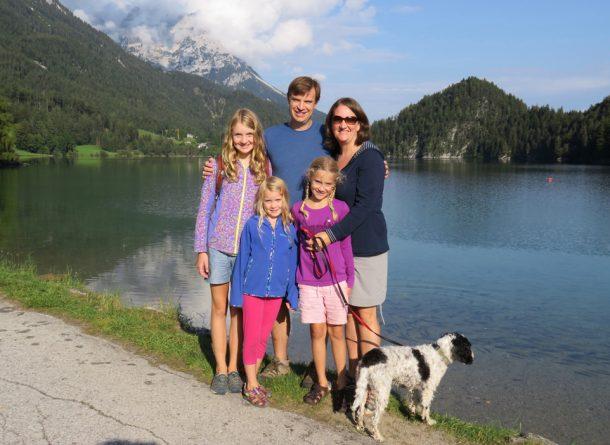 Family at Austrian Lake