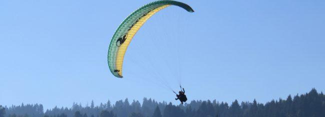 Paragliding landing