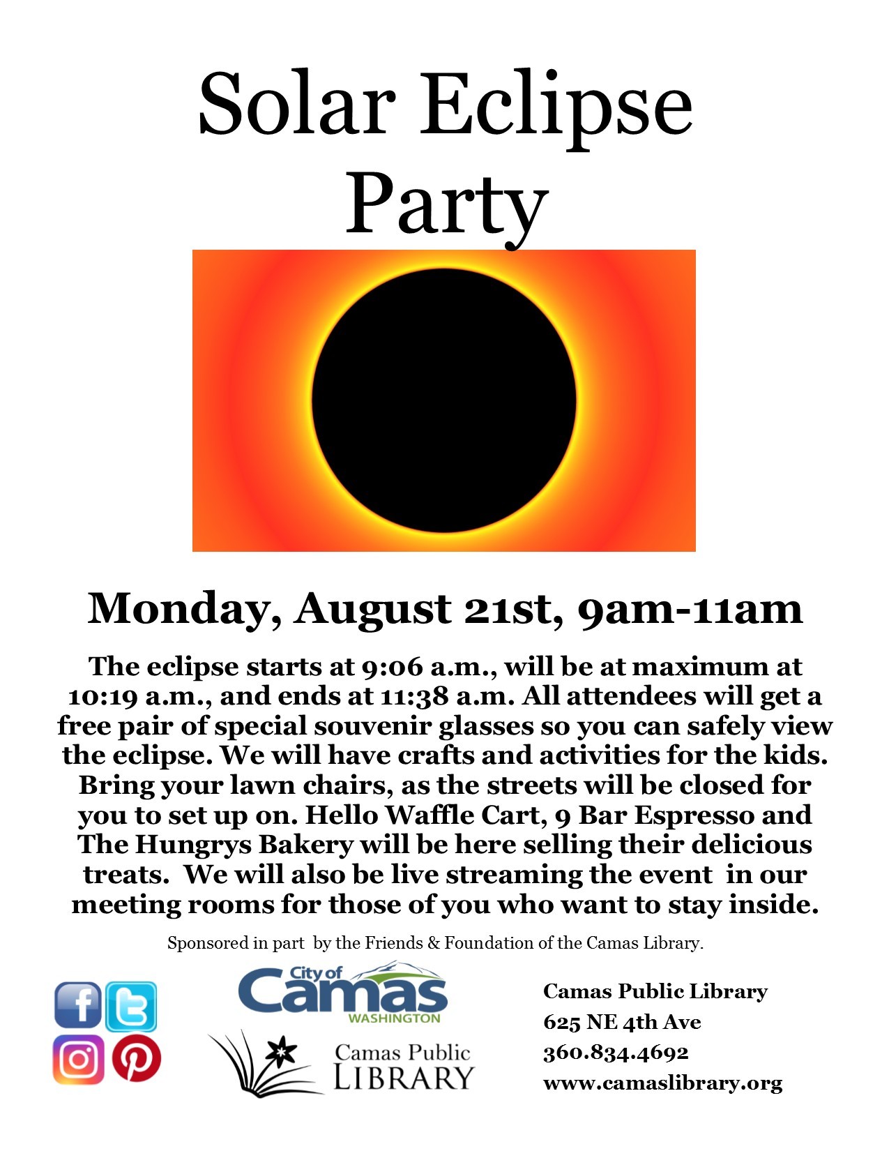 Solar Eclipse Party At Camas Public Library Vancouver Family Magazine
