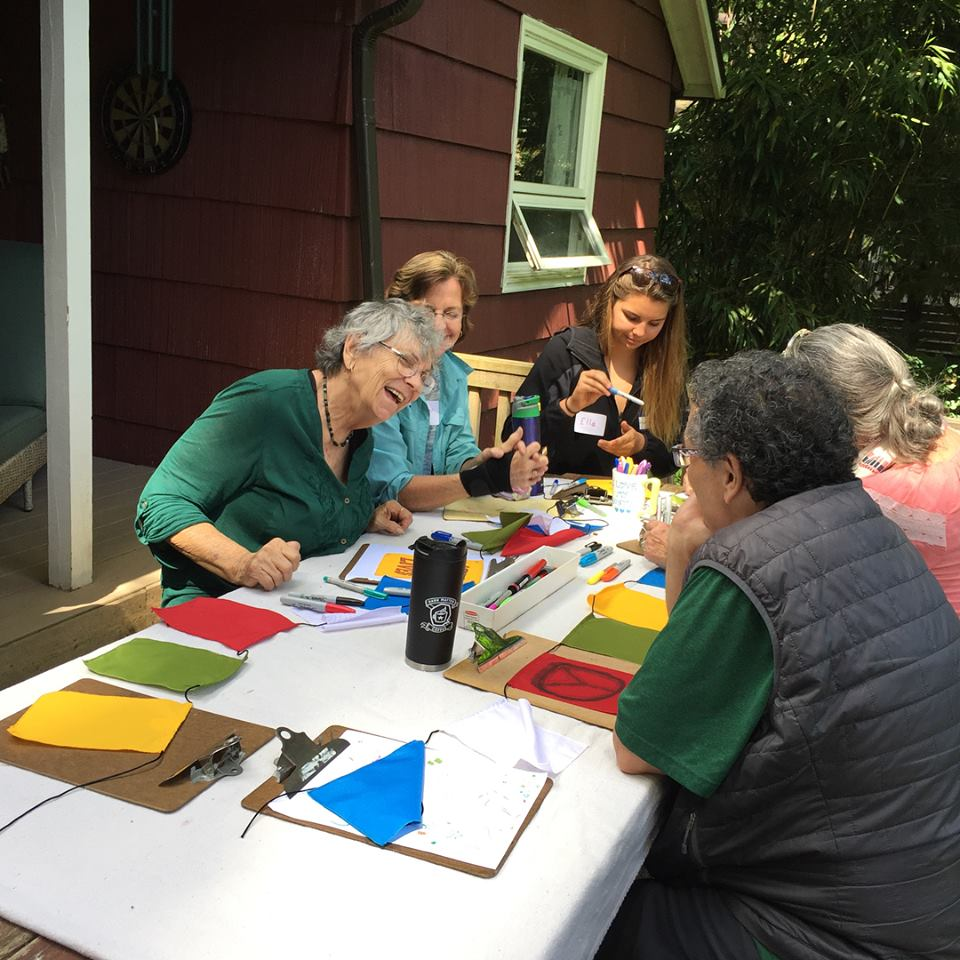 An adult art event at TreeSong