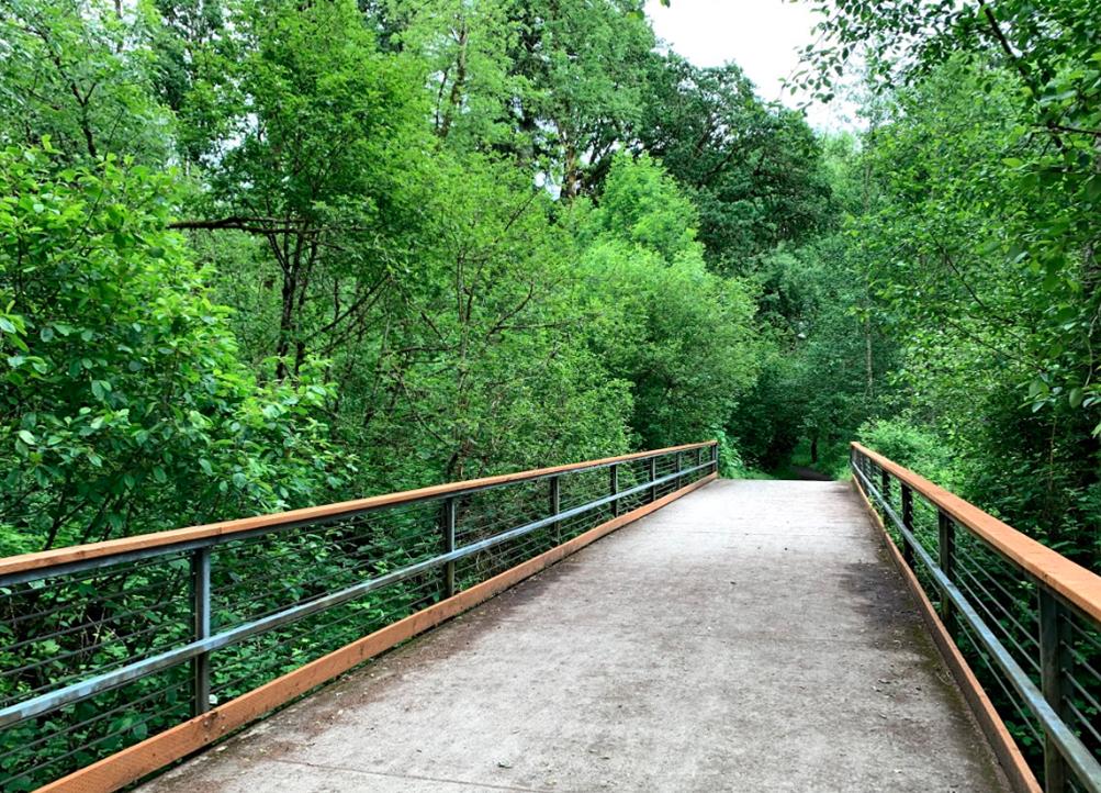 Bridge along Lacamas Heritage Trail